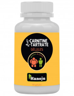 Complexe L-carnitine L-tartrate – 90 gélules de 500mg